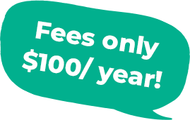 Fees only $100/ year!